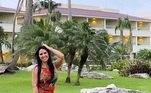Assim que chegou no resort, Graciele fez fotos no local e contou para os seguidores que o espaço, além de muito grande, conta com serviço all inclusive