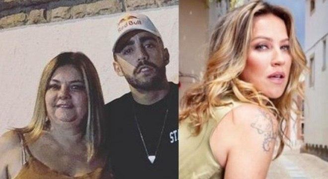 Gracinda,  mãe de Scooby, e a ex-nora Luana Piovanni