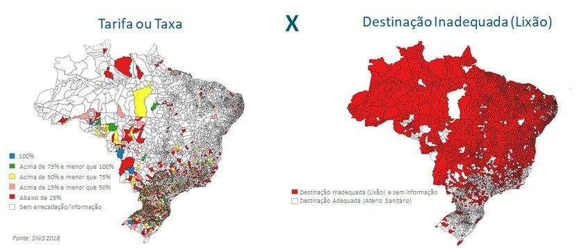 No sul e sudeste, há menos lixões devido à cobrança da tarifa pelo serviço prestado