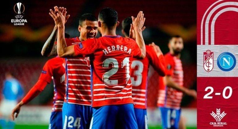 Em Granada, a euforia do time estreante na Europa