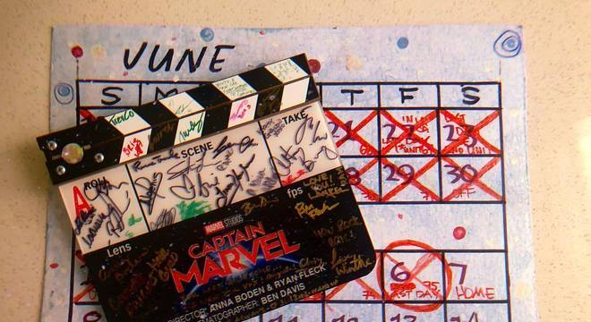 Gravações de Capitã Marvel chegam ao fim
