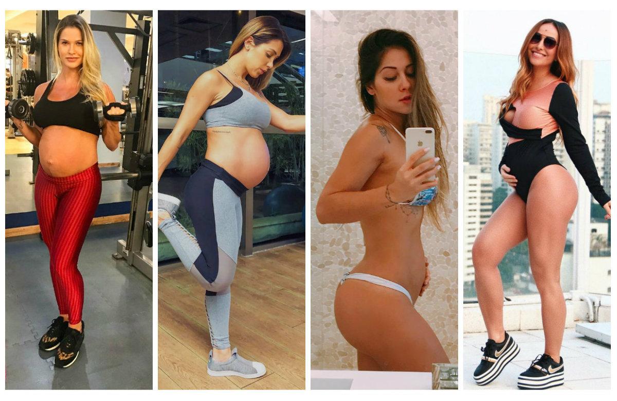 A Modelo Norte Toda Mulher Sabe Como E Dificil Manter A Boa Forma Durante A Gravidez Mas Estas
