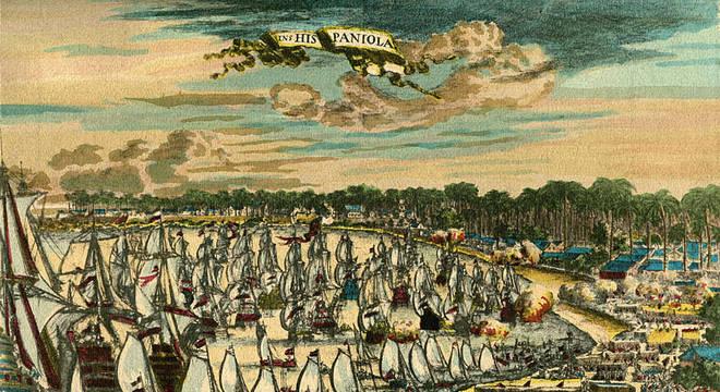 Cristovão Colombo chegou à ilha que abrigam o Haiti e a República Dominicana em dezembro de 1492, e o território passou ao controle da cora espanhola
