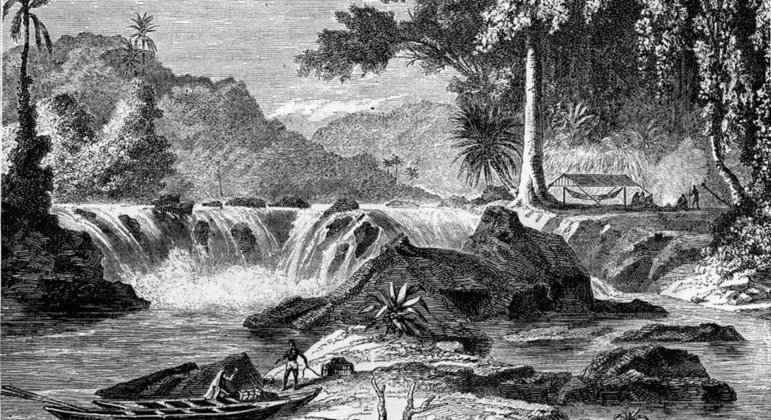 Schomburgk definiu fronteira da Guiana Inglesa a leste do rio Essequibo