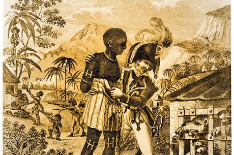 A riqueza produzida pela colônia era extraída graças à importação de dezenas de milhares de escravos todo o ano, e à implementação de um violento sistema escravocrata