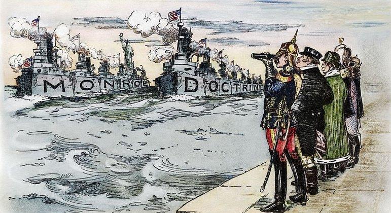 """""""América para os americanos"""": Doutrina Monroe criada na rejeição ao imperialismo europeu no continente americano fez com que EUA ficassem ao lado da Venezuela"""