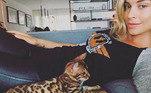 Sol, o gato-de-bengala de Grazi Massafera, é sucesso no Instagram da loira