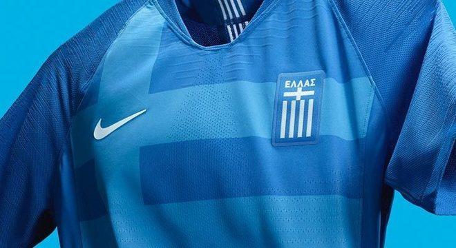 O novo, e lindo, uniforme da seleção da Grécia