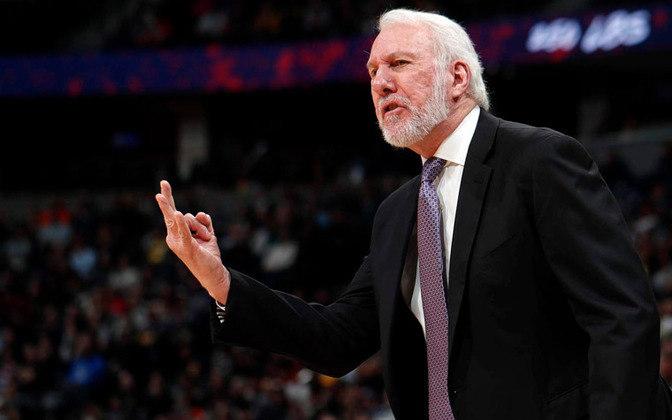 Gregg Popovich: o lendário treinador da NBA declarou apoio para Biden em 2020.