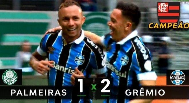 A derrota do Palmeiras que garantiu o título do Flamengo
