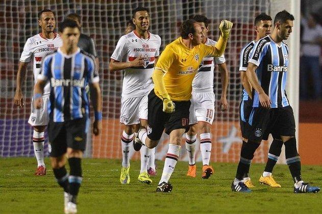 Grêmio - 6 gols: com pai Colorado, Ceni gostava de marcar contra o Grêmio. Foram seis tentos, com cinco de pênaltis e um de falta,