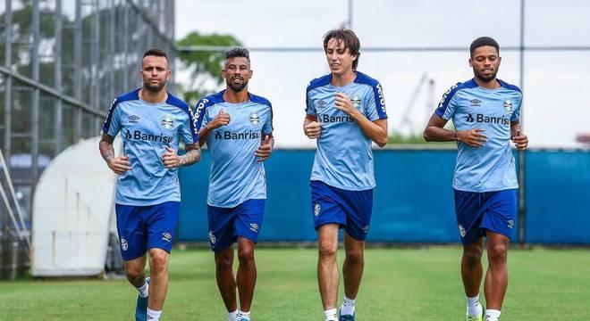 Grêmio cuida para Luan não sofrer com fascite plantar em 2019 Crédito: Lucas Uebel / Grêmio / Divulgação / CP
