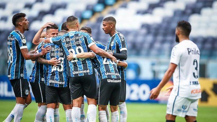 Grêmio: Folha Salarial: R$ 12 milhões - Pontos: 59 - Custo por ponto: R$ 203.389,83.