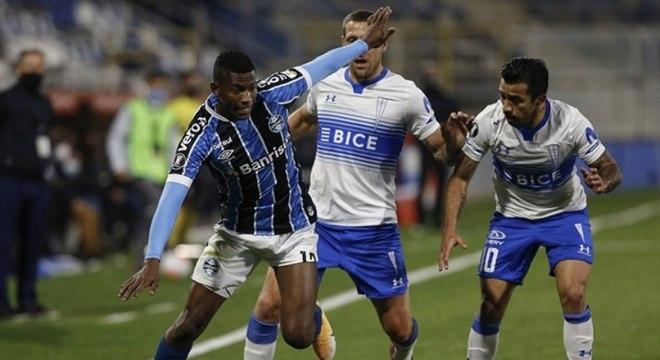Grêmio teve atuação bem abaixo do esperado contra a Universidad Católica