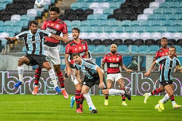 Grêmio: Sobe – No primeiro tempo, o Tricolor conseguiu algumas roubadas de bola e engrenou contra-ataques. / Desce – Muito nervoso em campo, o time cometeu muitas faltas e pouco fez dentro de campo.