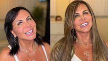 Novo visual: Gretchen coloca mega hair e clareia os cabelos