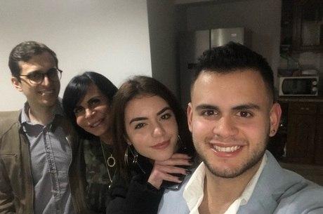 Gretchen com os filhos Sérgio, Giullia e Gabriel