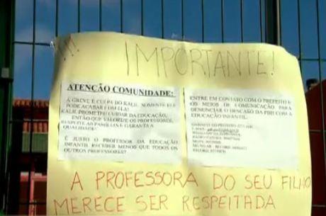 Professores protestam em Belo Horizonte