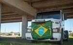 greve, caminhão, estradas, combustível
