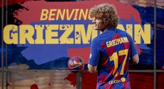 Messi e Suárez já tem um grande companheiro. O francês Griezmann