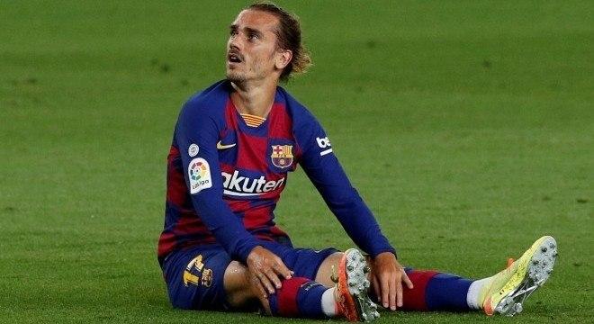 Griezmann sofreu lesão na perna direita, em jogo contra o Valladolid