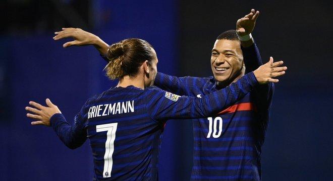 Griezmann e Mbappé