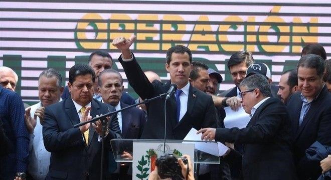 Juan Guaidó, chefe da Assembleia Nacional da Venezuela