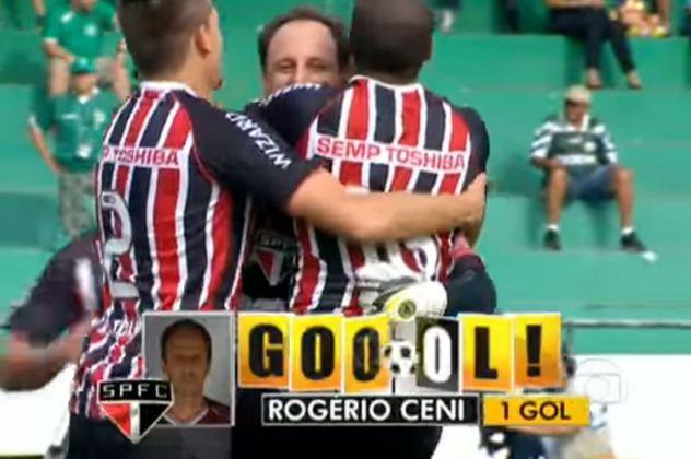 Guarani - 3 gols: mais um clube do interior que Ceni marcou três vezes. Foram três gols de falta sobre o Bugre.