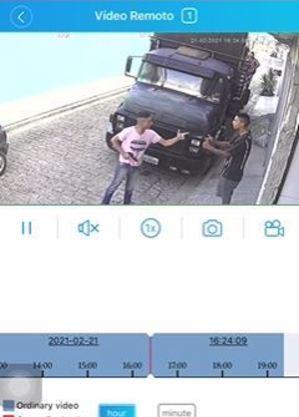 Câmeras gravaram ação do guarda municipal