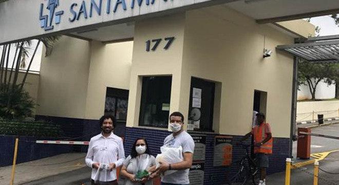 O Hospital Santa Marcelina foi um dos beneficiados com os protetores faciais produzidos pelos Guardiões ProVida
