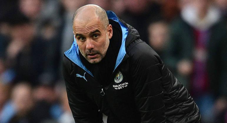 """Pep Guardiola, o treinador dos """"Citizens"""""""