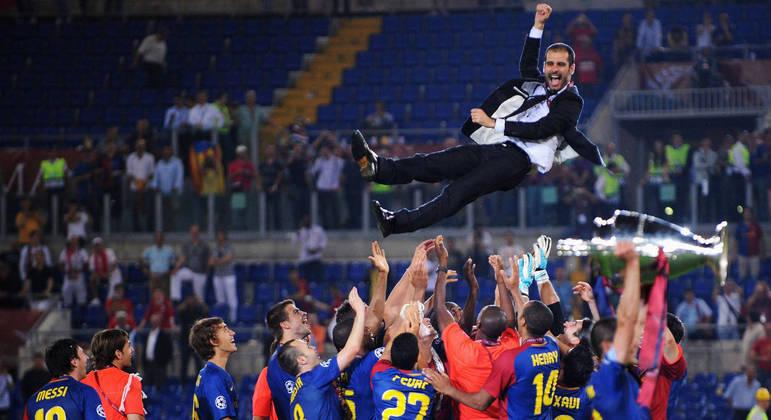 Guardiola, com o Barcelona de 2008/2009