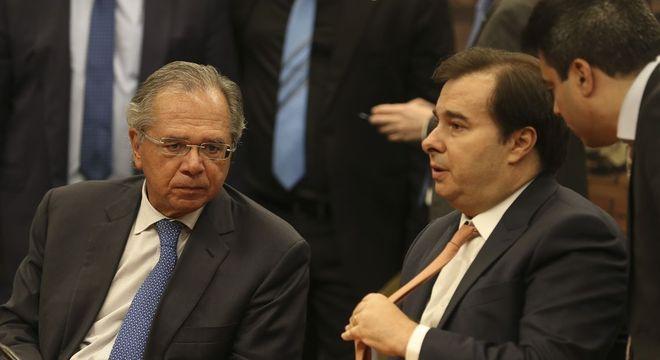 """""""Esperamos chegar na economia que o ministro Guedes deseja"""", disse Maia"""