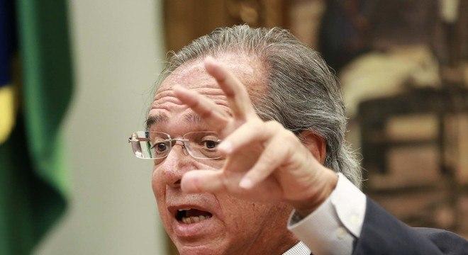 Guedes fala sobre a Reforma da Previdência, em reunião da Comissão de Constituição e Justiça