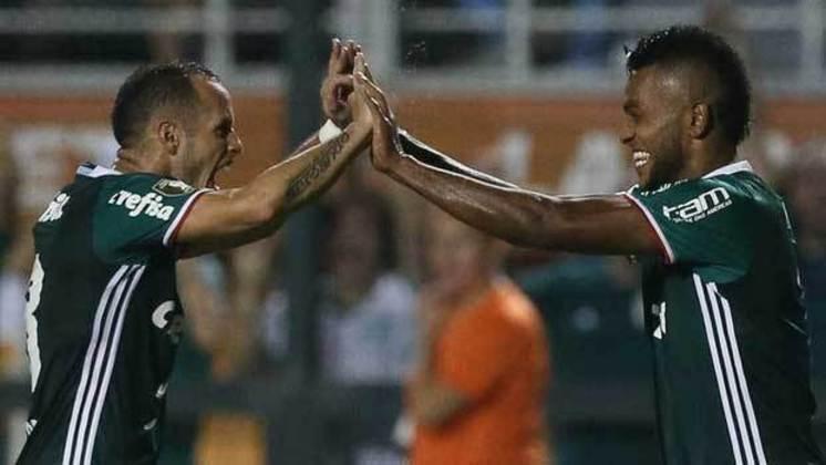 Guerra e Borja: jogaram juntos no Atlético Nacional-COL e no Palmieras.