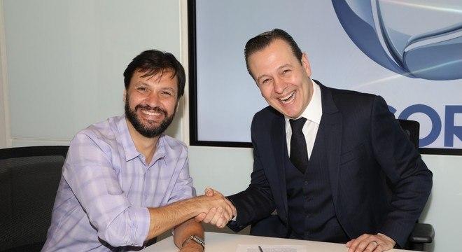 Antonio Guerreiro, vice-presidente de jornalismo e Celso Zucatelli