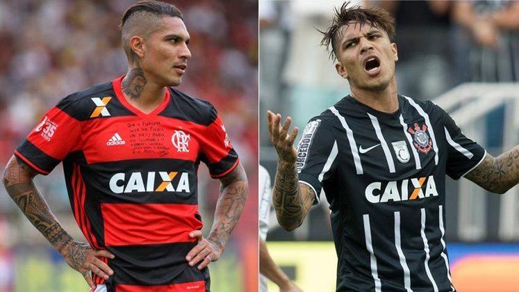 GUERRERO – Antes de jogar no Flamengo, o atacante peruano fez história ao conquistar o Mundial de 2012 e o Brasileirão de 2015 com o Timão.