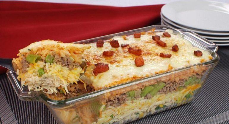 Guia da Cozinha - Arroz 4 camadas para um almoço rápido