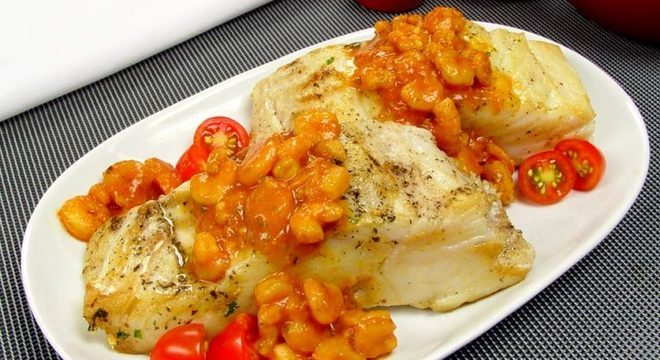Guia da Cozinha - Bacalhau com molho de camarão