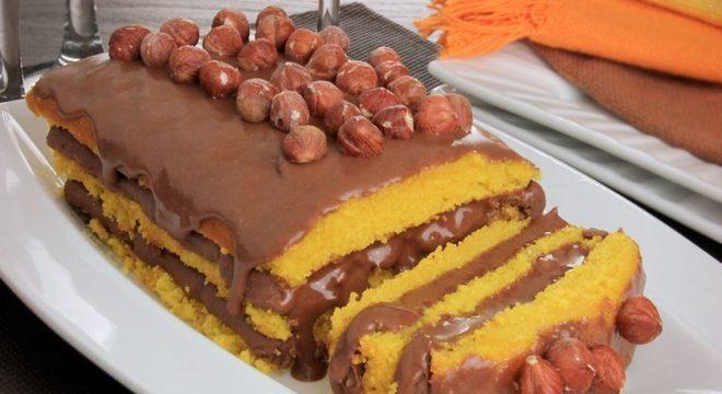 Guia da Cozinha - Bolo de cenoura com Nutella® perfeito para a sobremesa