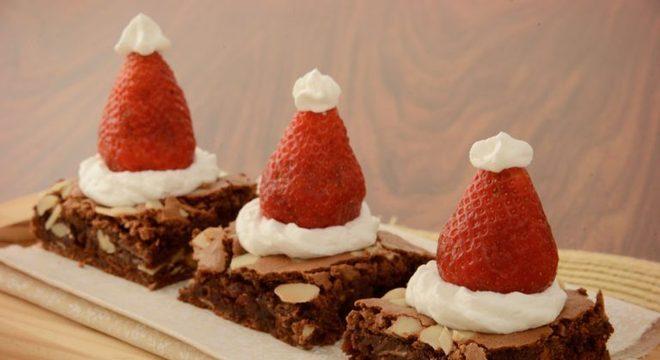 Guia da Cozinha - Brownie de Natal para uma sobremesa especial e prática