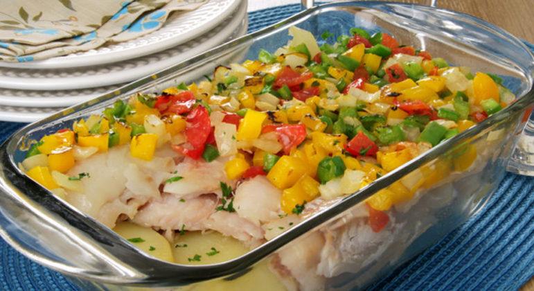 Guia da Cozinha - Filé de merluza ao vinagrete pronto em menos de 1 hora