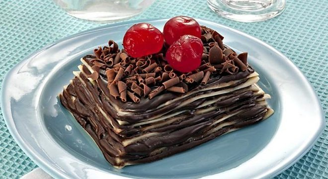 Guia da Cozinha - Lasanha de chocolate: sobremesa deliciosa e inusitada