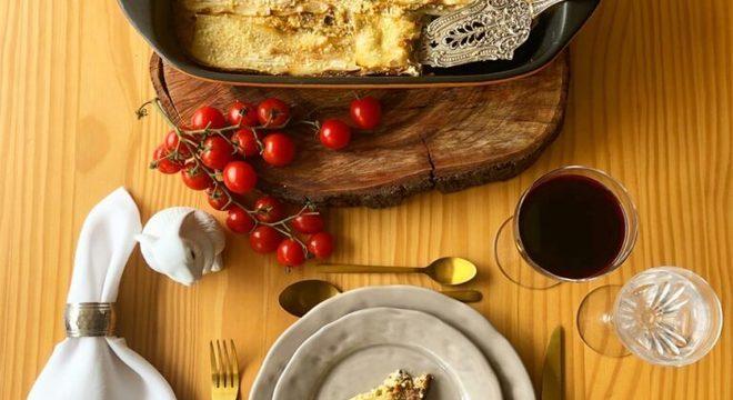 Guia da Cozinha - Lasanha de pupunha com bacalhau, cogumelos frescos e alho-poró