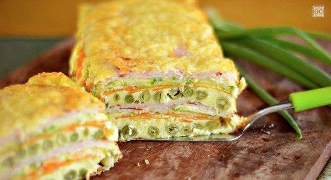 Guia da Cozinha - Omelete de forno em camadas: perfeita para todas as ocasiões