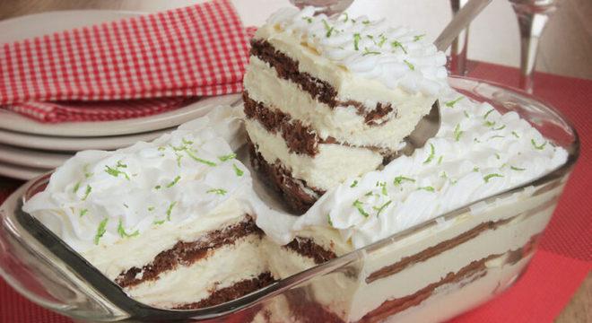 Guia da Cozinha - Pavê de Leite Ninho® com limão e chocolate