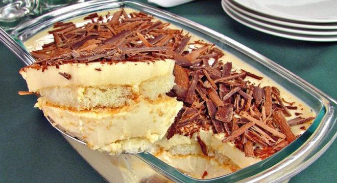 Guia da Cozinha - Pavê instantâneo de leite condensado com chocolate