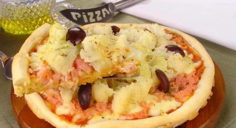 Guia da Cozinha - Pizza de couve-flor para fazer em casa