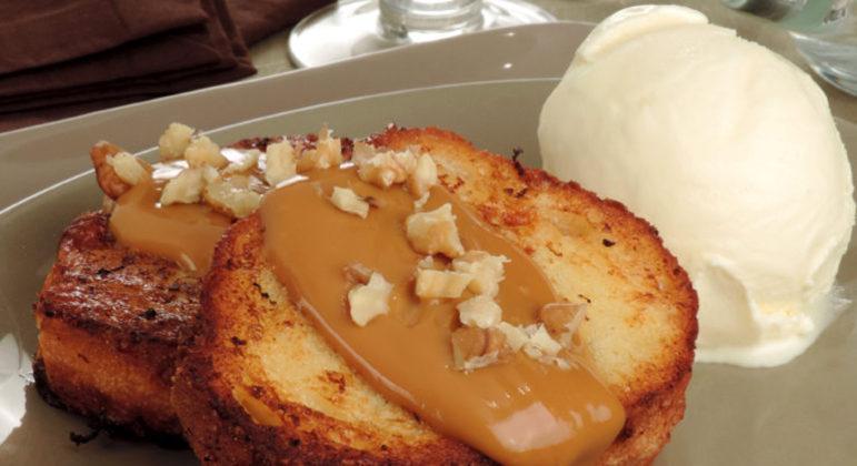 Guia da Cozinha - Rabanada com doce de leite para um lanche delicioso