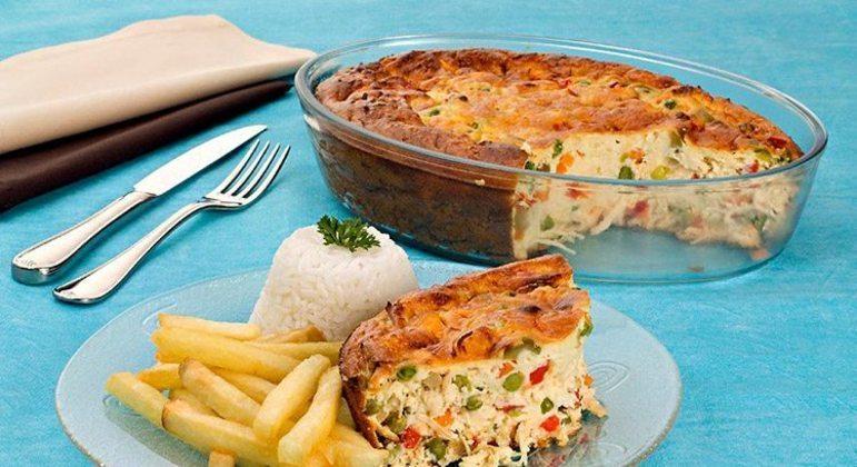Guia da Cozinha - Receita de gratinado de frango e legumes fácil